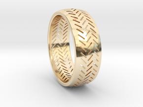 Herringbone Ring Size 12 in 14K Yellow Gold
