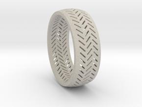 Herringbone Ring Size 12 in Natural Sandstone