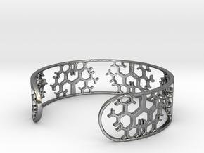 Geometric Tree Bracelet 7in (18cm) in Fine Detail Polished Silver