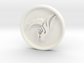 Tribal Dragon in White Strong & Flexible Polished
