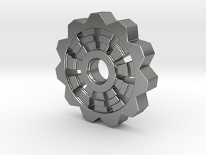 Cog Pendant  in Natural Silver
