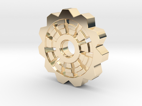 Cog Pendant  in 14k Gold Plated Brass