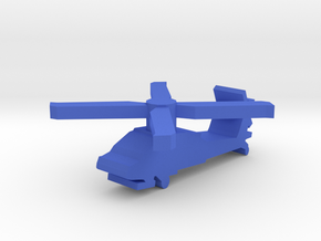 Game Piece, Blue Force Apache Helicopter in Blue Processed Versatile Plastic