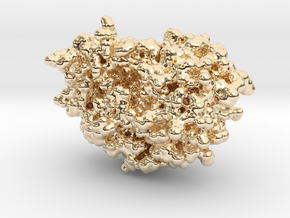 HIV-1 Protease in 14k Gold Plated Brass