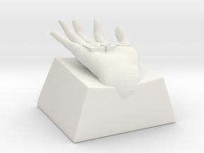 Hand escape key in White Natural Versatile Plastic