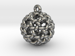Icosidodeca Knot Earring in Natural Silver