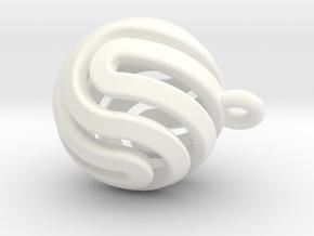 Ball-smaller-14-4 in White Processed Versatile Plastic