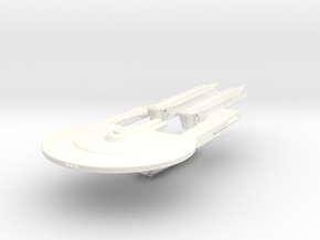 Andor Class VI Refit  Cruiser in White Strong & Flexible Polished