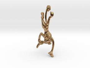 3D-Monkeys 016 in Polished Brass