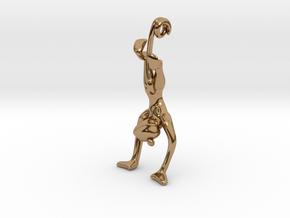 3D-Monkeys 037 in Polished Brass