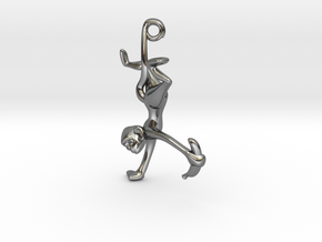 3D-Monkeys 038 in Fine Detail Polished Silver