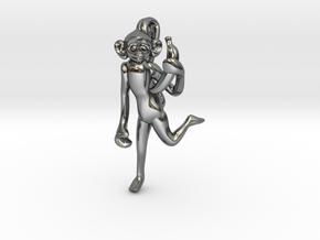 3D-Monkeys 046 in Fine Detail Polished Silver