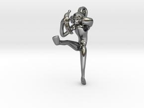 3D-Monkeys 048 in Fine Detail Polished Silver