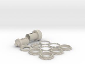 Combination Lock USB Flash drive Case in Natural Sandstone