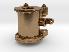 Air Pump - 8 In. - Btm REV .625 Plus 1% in Natural Brass