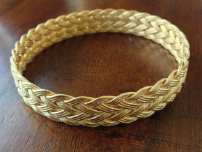 Gaucho Weave Turk's Head Bracelet in Polished Gold Steel