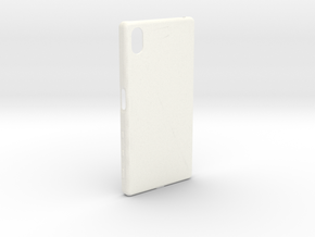 Customizable Xperia Z5 case in White Strong & Flexible Polished
