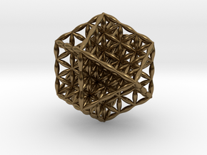 Flower Of Life Vector Equilibrium in Polished Bronze