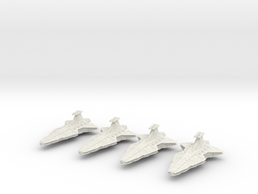 (Armada) 4x Venator Star Destroyer in White Natural Versatile Plastic