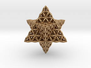 Flower Of Life Tantric Star in Polished Brass