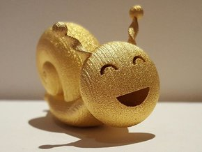 Golden Snail in Matte Gold Steel