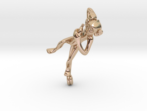 3D-Monkeys 125 in 14k Rose Gold Plated Brass