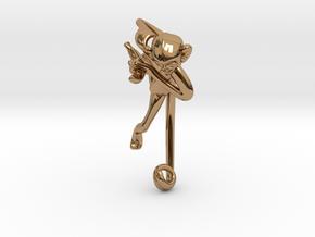 3D-Monkeys 126 in Polished Brass
