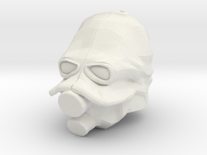 Custom Combine Soldier Inspired Helmet for Lego in White Natural Versatile Plastic