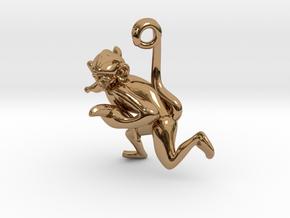3D-Monkeys 132 in Polished Brass