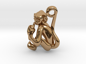 3D-Monkeys 134 in Polished Brass
