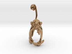 3D-Monkeys 147 in Polished Brass