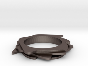 Neo Abstarct Bracelet in Polished Bronzed Silver Steel