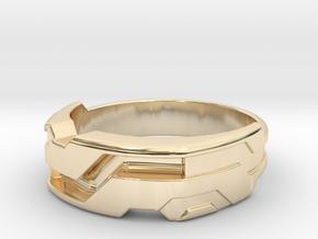US16 Ring XXI: Tritium (Silver) in 14K Yellow Gold