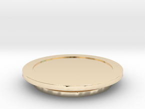 Modeling Coasters in 14k Gold Plated Brass