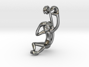 3D-Monkeys 172 in Fine Detail Polished Silver