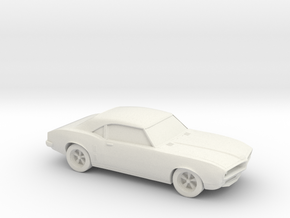 1/87 1967-69 Pontiac Firebird in White Natural Versatile Plastic