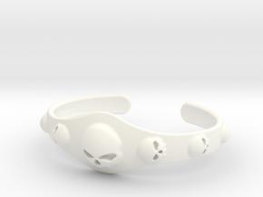 Skull Bracelet in White Processed Versatile Plastic