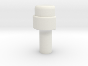 KR Lightsaber Emmiter V5 Button in White Natural Versatile Plastic