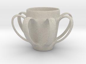 Coffee mug #4 - Many Handles in Natural Sandstone