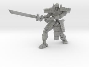 Robot Skeleton Samurai 05 in Metallic Plastic