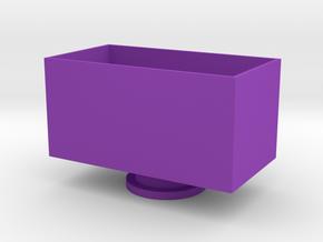 Chicken Face Storage Box in Purple Processed Versatile Plastic