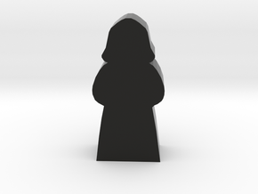 Priest Meeple In Hooded Robes in Black Natural Versatile Plastic