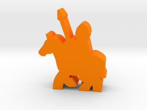 Game Piece, Mounted Spearman in Orange Processed Versatile Plastic