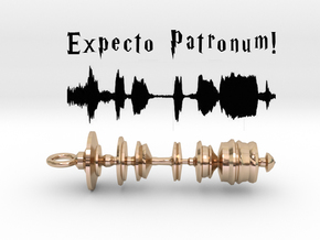"""Expecto Patronum"" - Harry Potter Waveform Pendant in 14k Gold Plated"