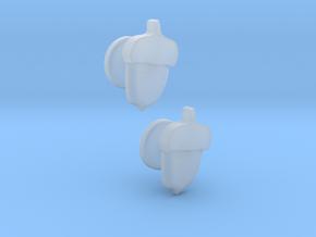 Acorn Cufflinks in Smooth Fine Detail Plastic