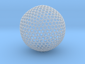 Icosahedron Sphere in Smooth Fine Detail Plastic