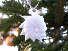 Cristellaria Ornament - Science Gift in White Processed Versatile Plastic