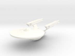 Gallant Class Refit Cruiser in White Strong & Flexible Polished