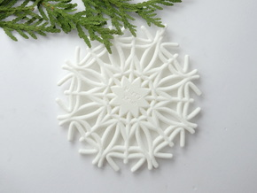 Fruitilicious Snowflake in White Natural Versatile Plastic