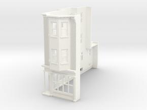 WEST PHILLY 3S ROW STORE CORNER L 160 Brick in White Processed Versatile Plastic